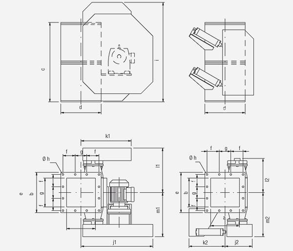 Technischer Aufbau von Doppelpendelklappen