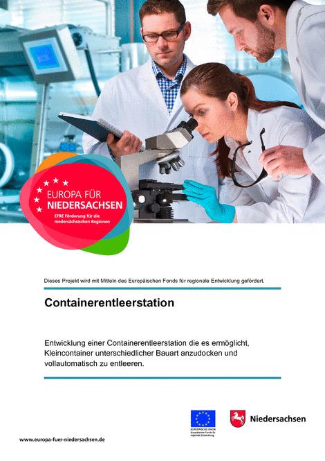 Infoblatt zur EFRE Förderung Containerleerstation des Landes Niedersachsen
