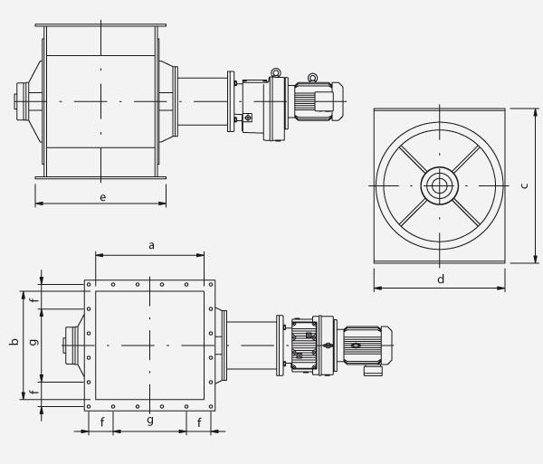Technischer Aufbau von Zellenradschleusen